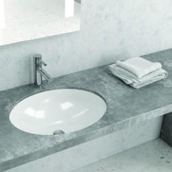 Lavbo sottopiano incasso in ceramica 50cm Litos-S650 kamalu