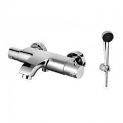 Miscelatore termostatico vasca con doccetta e supporto muro KT2000