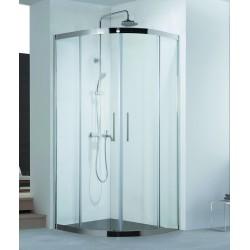 Box doccia semicircolare 90x90 struttura in acciaio vetro 8mm KS8000