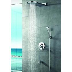 Set miscelatore con soffione a cascada doccetta e rubinetto Z3400