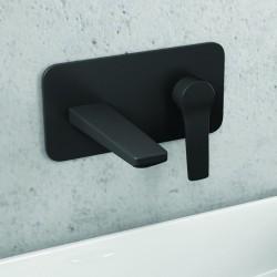 Rubinetto installazione a muro colore nero modello Nico-260L