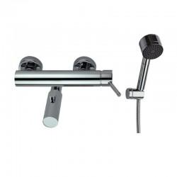 Miscelatore per vasca con doccetta e supporto muro modello Mito-V